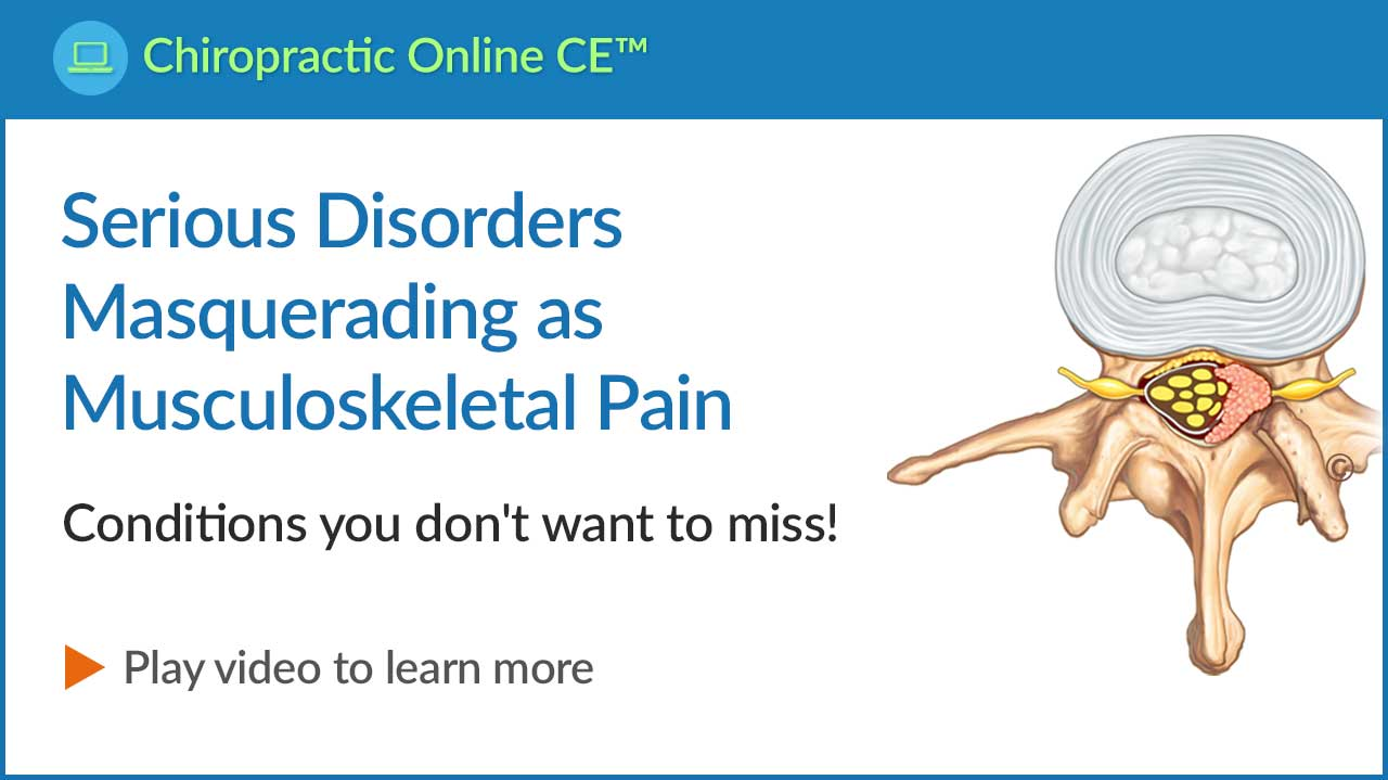 Serious Disorders Masquerading as Musculoskeletal Pain Video